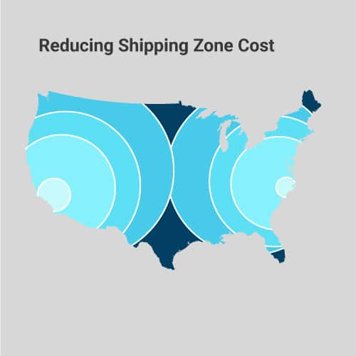 reducing shipping zone cost map
